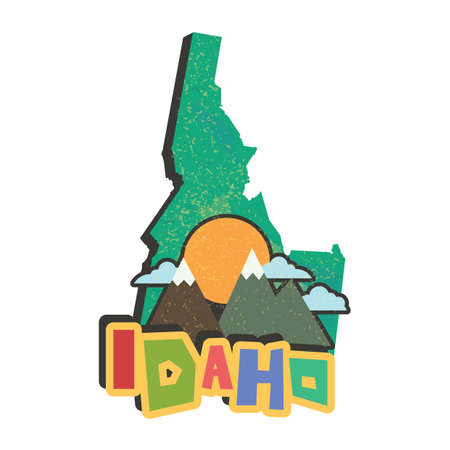 idaho state map Çizim