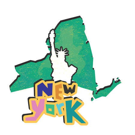 new york state: new york state map