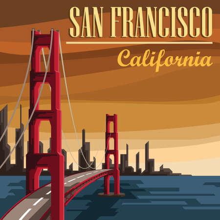 サンフランシスコ  イラスト・ベクター素材