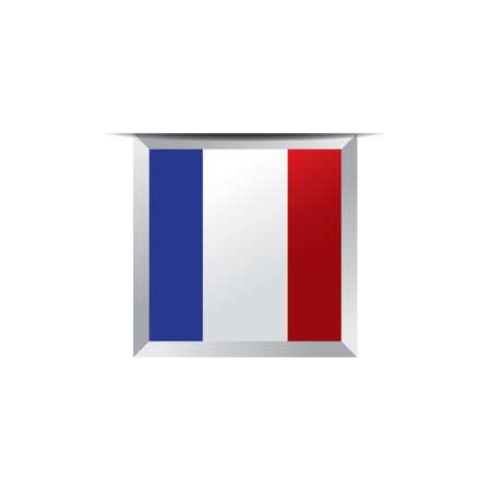 flag button: france flag button Illustration