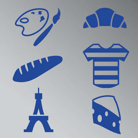 buttery: set of france general icons Illustration