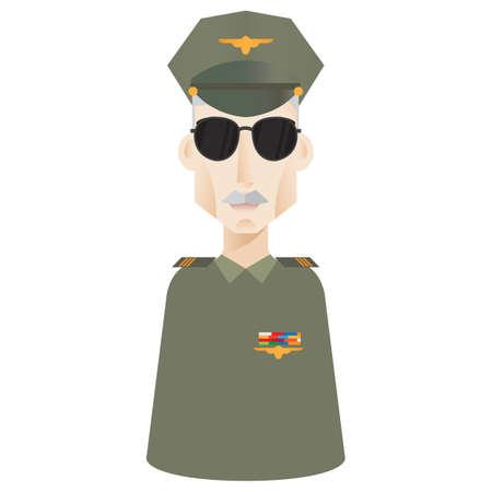 force: air force officer Illustration