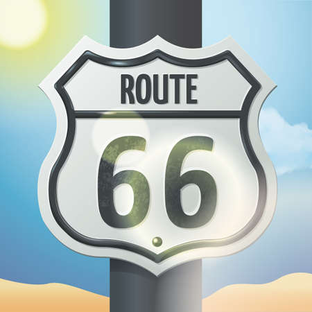 66: route sign 66