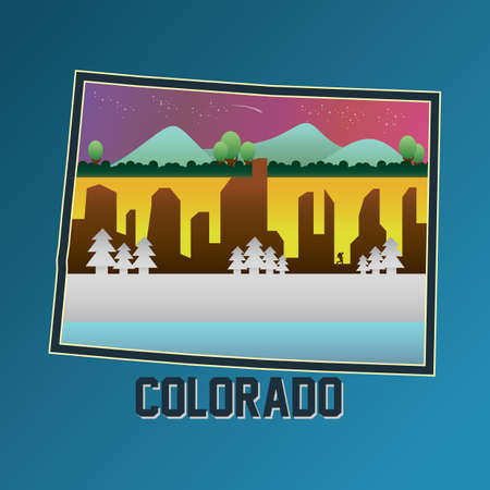 colorado mountains: colorado map