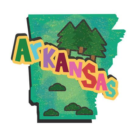 arkansas: arkansas state map