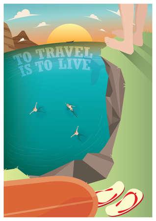 flipflop: travel poster