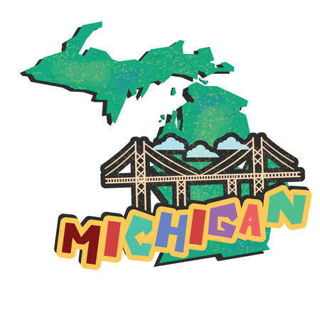 michigan: michigan state map