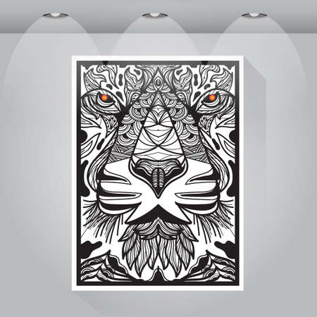 intricate: intricate tiger head design