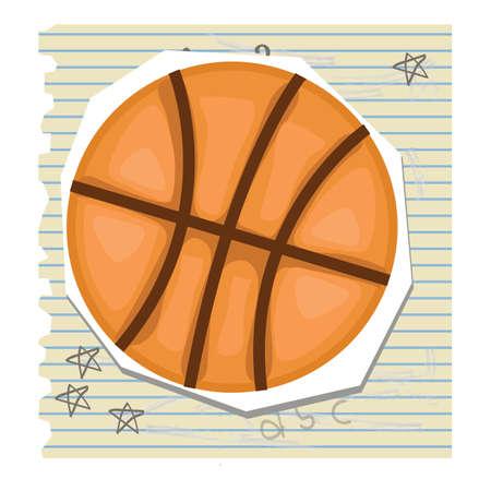 ruled paper: basketball