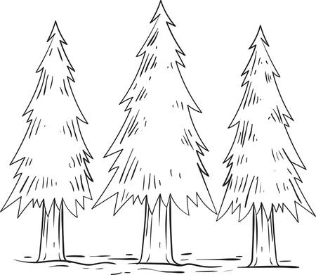 conical: conical trees Illustration