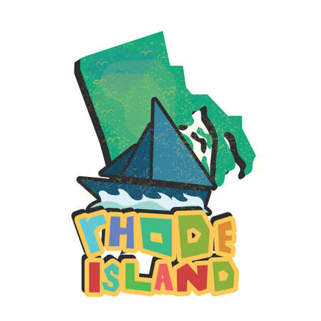ocean state: rhode island state map