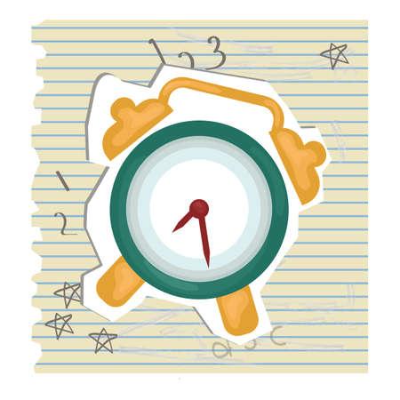 ruled paper: alarm clock