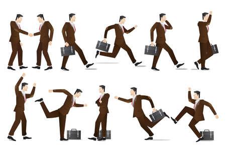 folded hands: businessmen collection Illustration