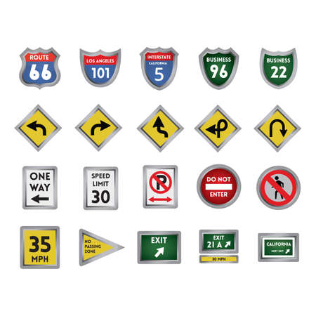no trespassing: collection of road signs Illustration