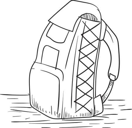 packsack: backpack Illustration