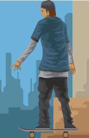 skateboarding: boy skateboarding