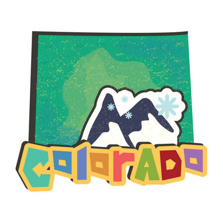 colorado mountains: colorado state map