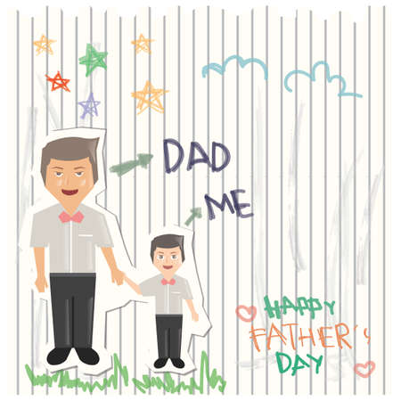 father and child: fathers day greeting