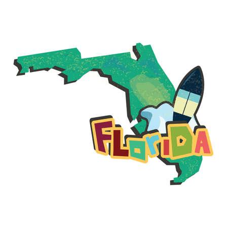 florida state: florida state map Illustration