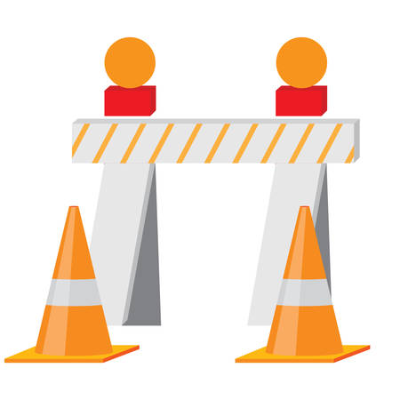 traffic   cones: barriers and traffic cones Illustration