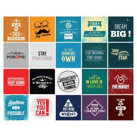 collection of motivational quotes Vector Illustration