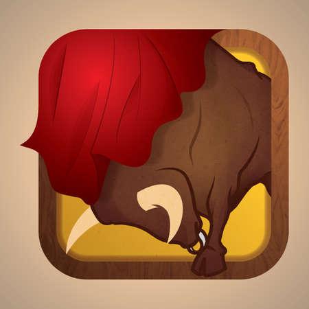 spanish bull with muleta