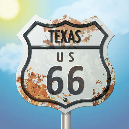 66: texas 66 route sign