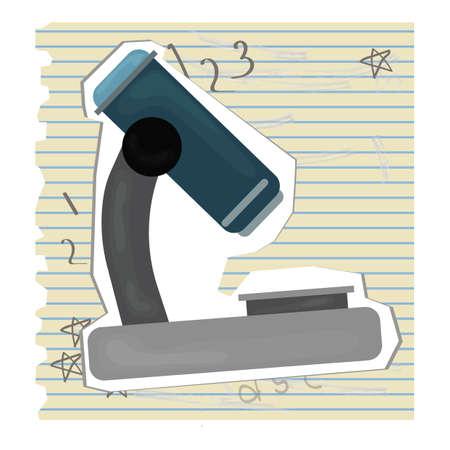 ruled paper: microscope