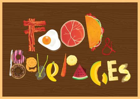 beverage: food and beverages Illustration
