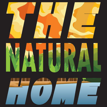 exposure: double exposure of word the natural home