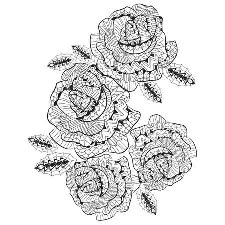intricate: intricate roses design Illustration