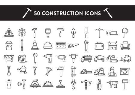 warning saw: construction icons