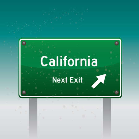 exit sign: california next exit sign