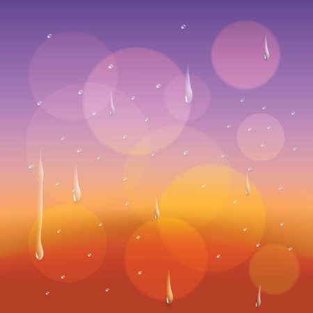 rain window: drops of rain on window