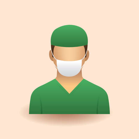 surgical mask: surgeon