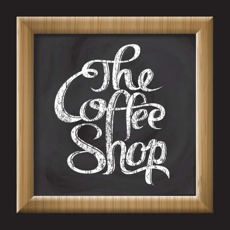 shop sign: the coffee shop sign Illustration