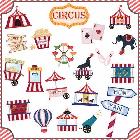 balon de basketball: colecci�n de iconos de circo