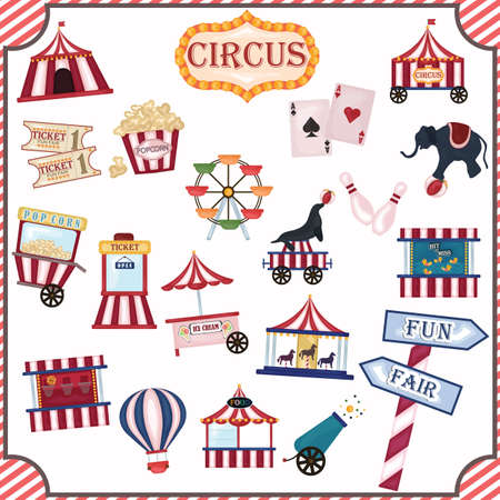 collection of circus icons Illustration