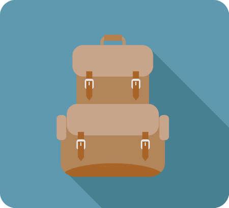 bookbag: backpack Illustration