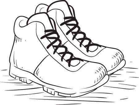 footgear: shoes Illustration