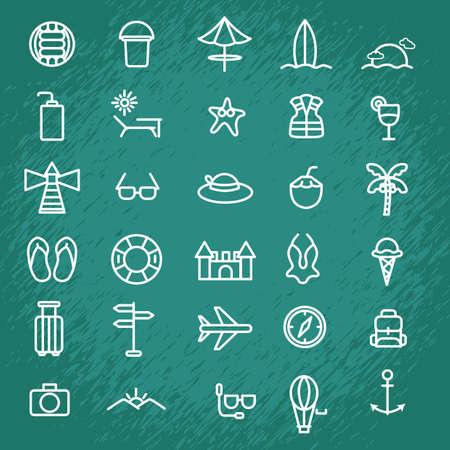 safer: set of summer icons