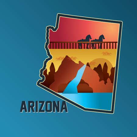 grand canyon: arizona map