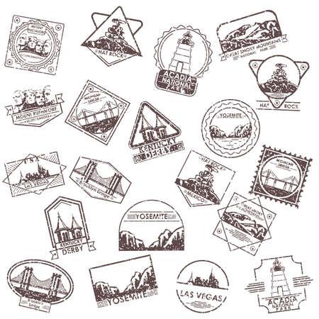 colección de etiquetas de eeuu