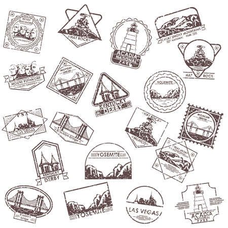 collection of usa labels
