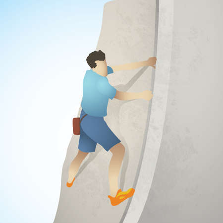 mountaineering: mountaineering Illustration
