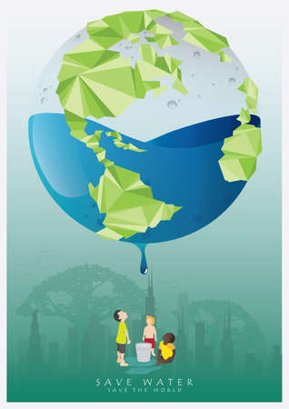 rainwater: save water poster