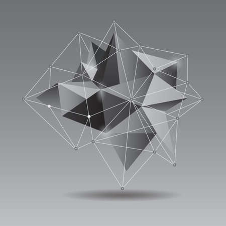 three dimensional shape: abstract design Illustration