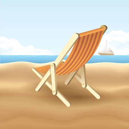 recline: beach chair Illustration