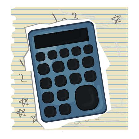ruled paper: calculator Illustration