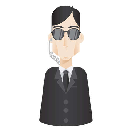 security officer: security officer Illustration